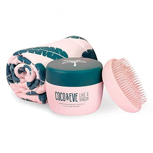 Coco & Eve That's A Wrap Bundle - Hair Mask, Tangle Tamer and Microfiber Hair Towel Wrap for All...