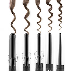 Curls made by the Xtava Satin Wave 5-in-1 Curler