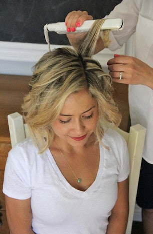 How To Curl Short Layered Hair With A Curling Iron Curling Diva