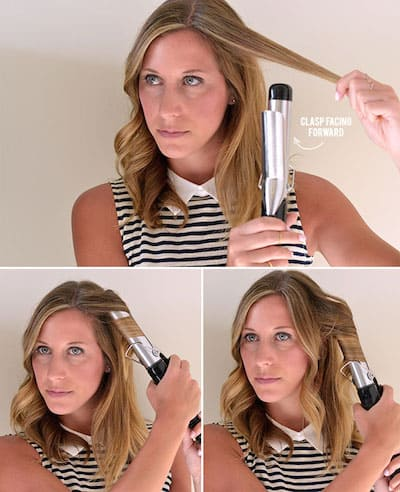 how to use a curling wand on thick hair