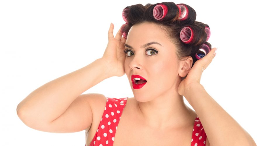 How to put rollers in short hair for volume