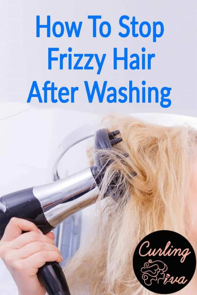 PIN for How to stop frizzy hair after washing
