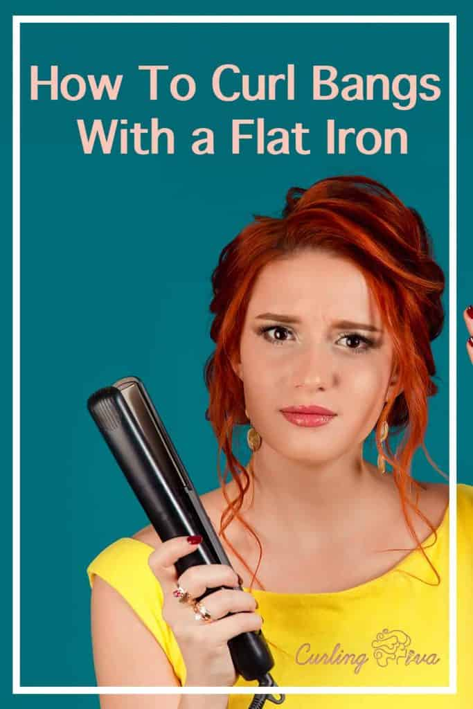 PIN for How To Curl Bangs With Flat Iron