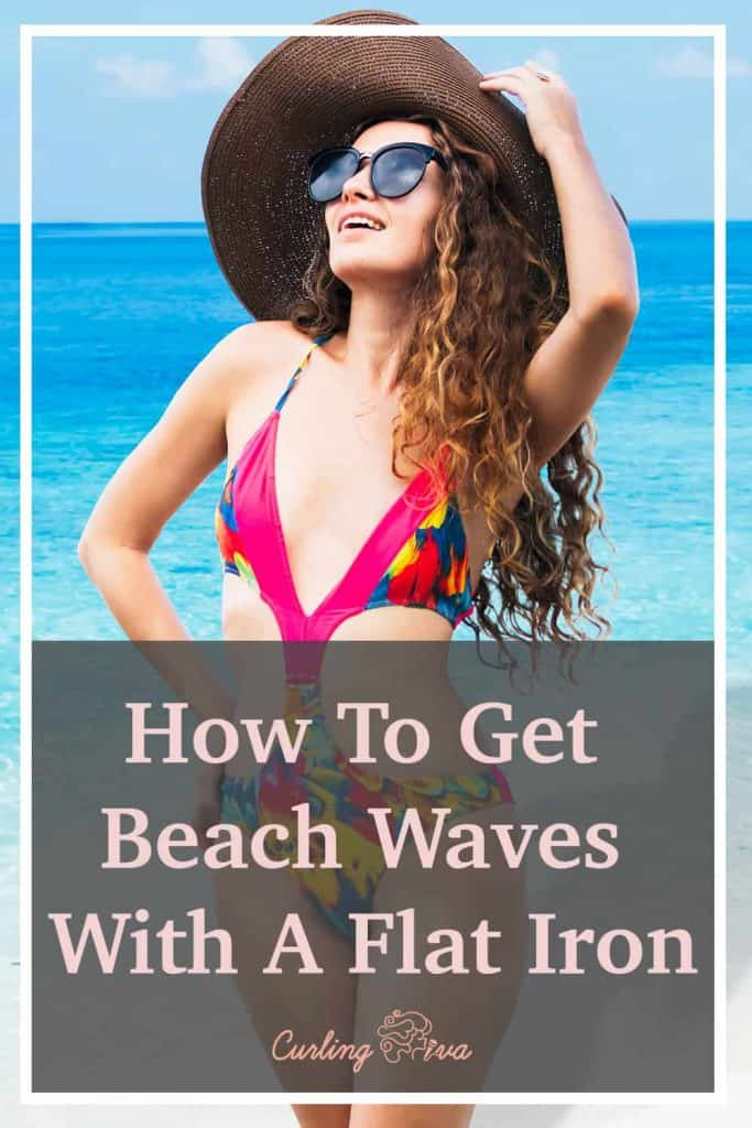 PIN for How To Get Beach Waves With A Flat Iron