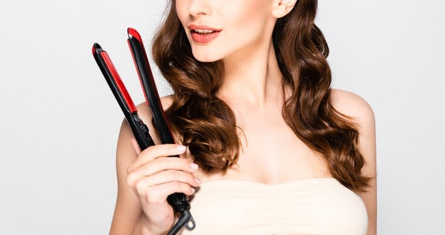 how to curl long hair with a flat iron