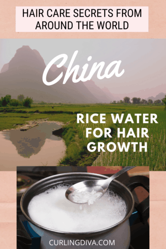 hair care secrets from around the world - China using rice water for hair growth